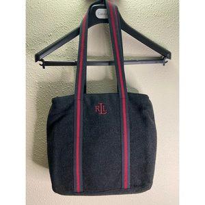 Ralph Lauren Black/red Wool Shoulder Bag